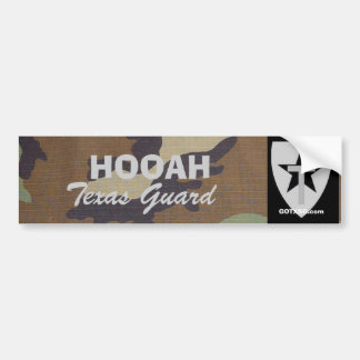woodland camo TXSG HOOAH Texas Guard Bumper Sticker
