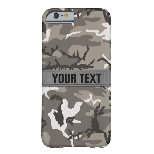 Woodland Camo Urban Grey Personalised Barely There iPhone