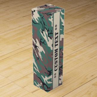 Woodland Camo w/ Custom Text Wine Bottle Box