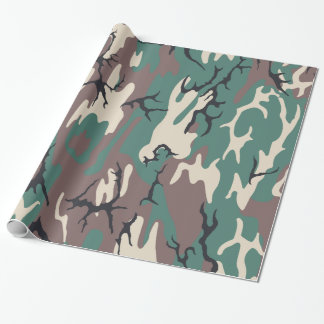 Woodland Camo Wrapping Paper