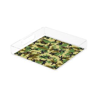 Woodland camouflage acrylic tray