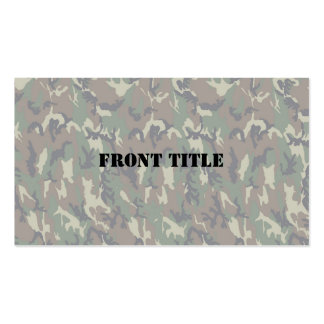 Woodland Camouflage Background Lightened Pack Of Standard Business Cards