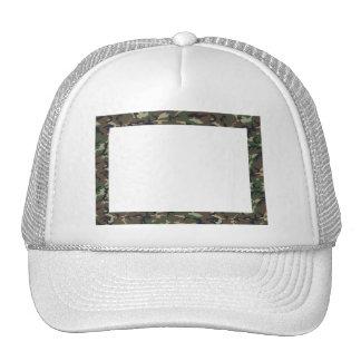 Woodland Camouflage Background Template Trucker Hat