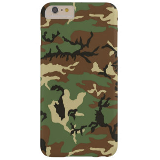 Woodland Camouflage Barely There iPhone 6 Plus Case