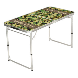 Woodland camouflage beer pong table