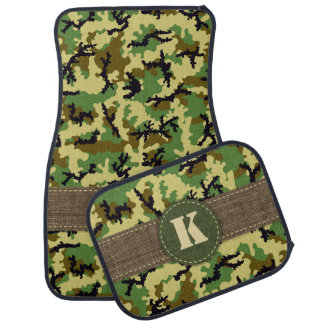 Woodland camouflage car mat