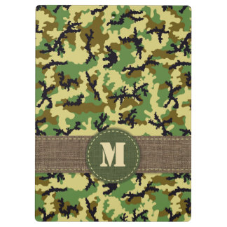 Woodland camouflage clipboard