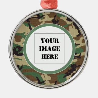 Woodland Camouflage Custom Ornament