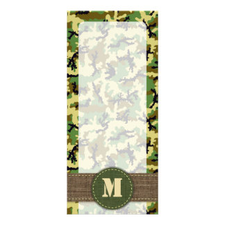 Woodland camouflage customized rack card
