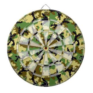 Woodland camouflage dartboard