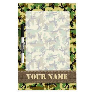 Woodland camouflage dry erase board