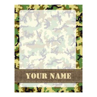 Woodland camouflage flyer