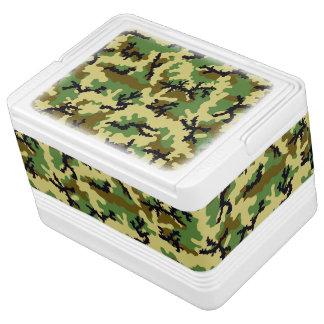 Woodland camouflage igloo cooler