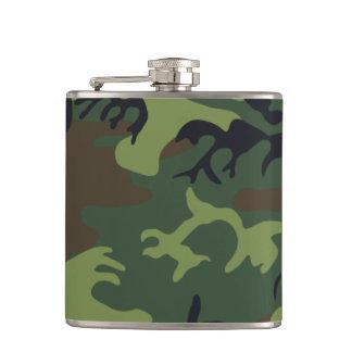 Woodland Camouflage II Hip Flask