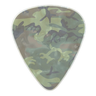 Woodland Camouflage II Pearl Celluloid Guitar Pick