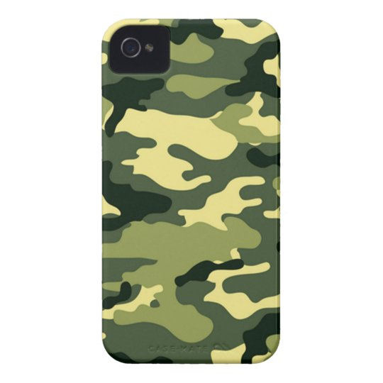 Woodland Camouflage iPhone 4 Case-Mate Case