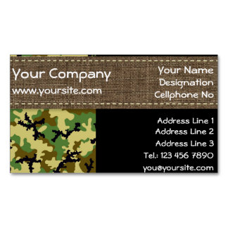 Woodland camouflage magnetic business cards