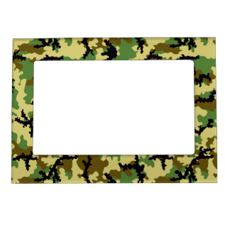 Woodland camouflage magnetic frame