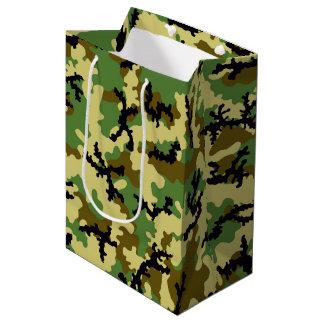 Woodland camouflage medium gift bag