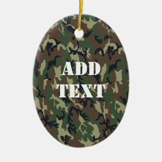 Woodland Camouflage Military Background Christmas Ornament
