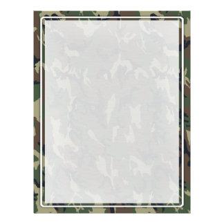 Woodland Camouflage Military Background Flyer Design