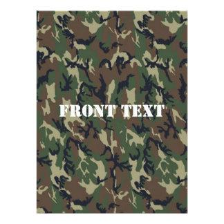 Woodland Camouflage Military Background Invites