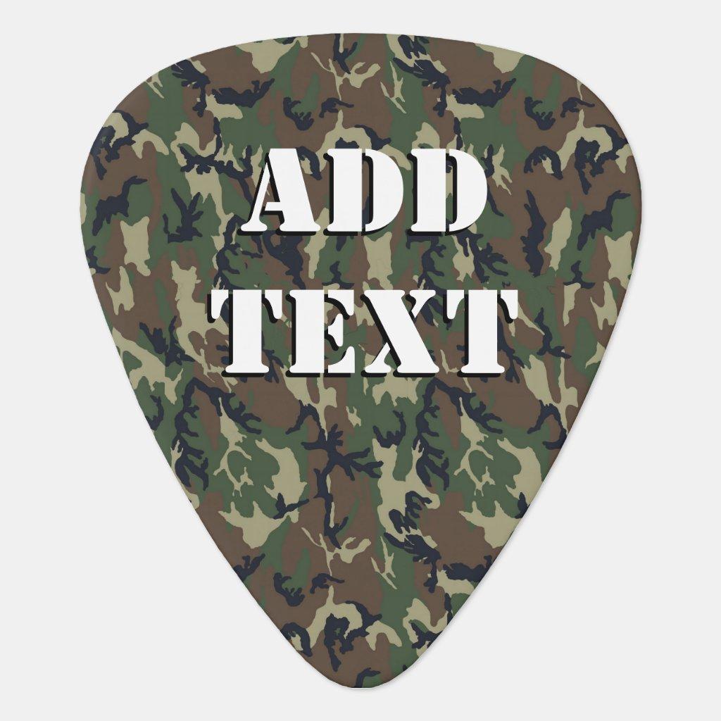 Woodland Camouflage Military Background Plectrum