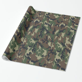 Woodland Camouflage Military Background Gift Wrap Paper