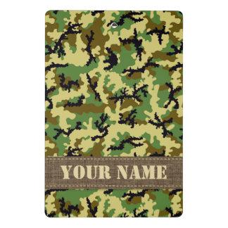 Woodland camouflage mini clipboard