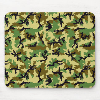 Woodland camouflage mouse mat