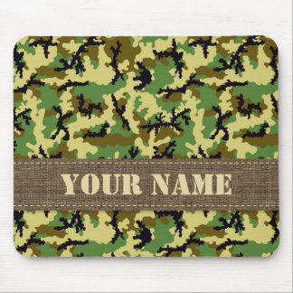 Woodland camouflage mouse pad