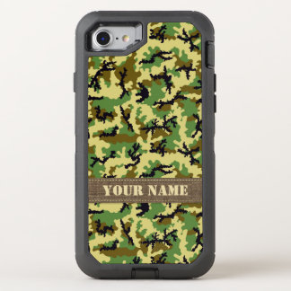 Woodland camouflage OtterBox defender iPhone 8/7 case