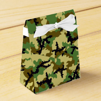 Woodland camouflage party favour box