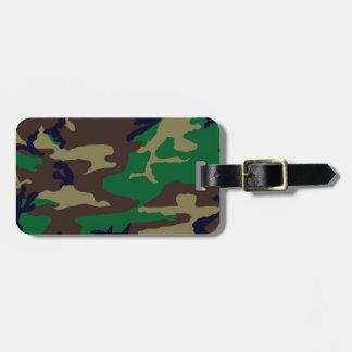 Woodland Camouflage Personalized Luggage Tag