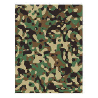 Woodland Camouflage Postcard