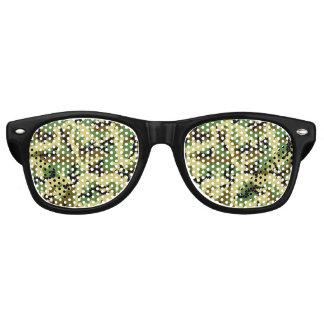 Woodland camouflage retro sunglasses