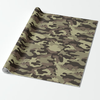 Woodland Camouflage Stylish Pattern Wrapping Paper