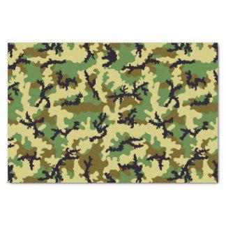 Woodland camouflage tissue paper