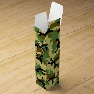 Woodland camouflage wine bottle box