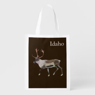 Woodland Caribou Grocery Bags