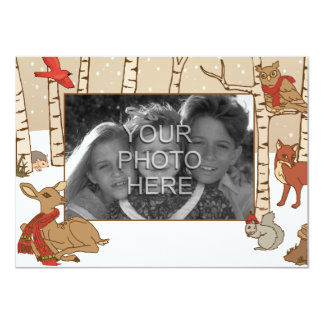 Woodland Christmas Card 11 Cm X 16 Cm Invitation Card