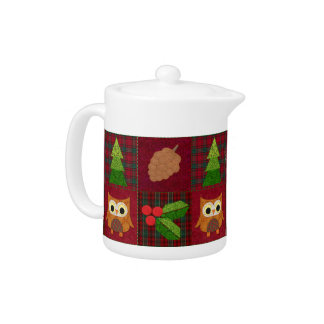 Woodland Christmas Teapot