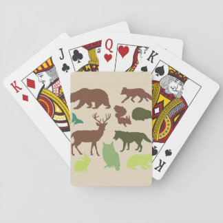 Woodland Creatures Adirondack Playing Cards