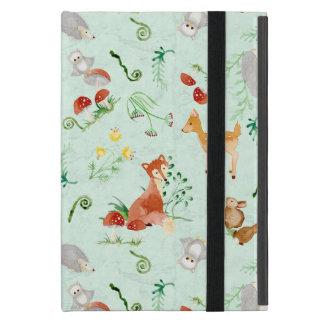 Woodland Creatures Animals Deer Fox Rabbit Owl Art iPad Mini Cover