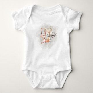 Woodland Creatures Bunny Fox Bear Bodysuit T-Shirt
