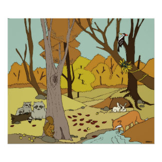 Woodland Creatures poster