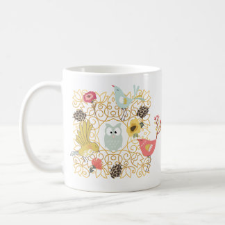 Woodland Creatures Wreath Outdoorsy Nature Lover Coffee Mug