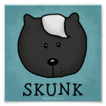 Woodland Critters-Best Forest Friends-Skunk Poster
