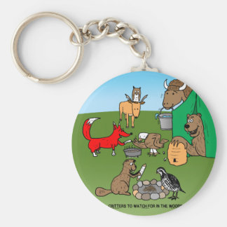 Woodland Critters Key Ring