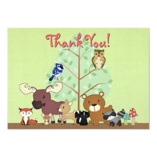 Woodland Critters Thank You Card